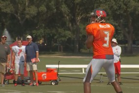 Bucs' Rookie QB prepares for debut.