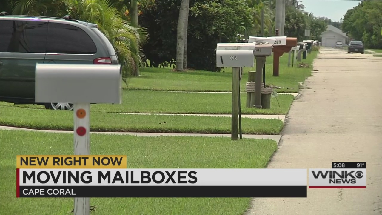 Cape Coral Police Officers Ask To Move Mailboxes Back