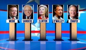 Hillary Clinton/ MGN/ Chafee 2016 Exploratory Committee/ U.S. Senator Bernie Sanders/ Jim Webb 2016 Exploratory Committee/ Pitzer College / CC BY 2.0