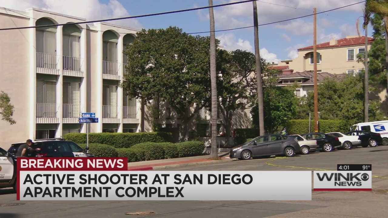 Officers surround man firing shots at san diego apartment - Apartment complexes san diego ...