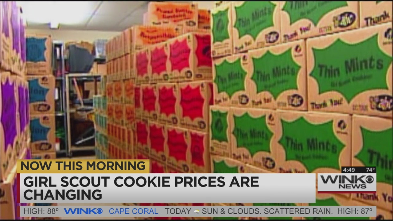 price of girl scout cookies to increase in parts of us
