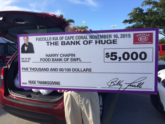 Billy Fuccillo And His Team At Fuccillo Kia Surprised The Food Bank With A  $5,000 Gift Live On WINK News This Morning.