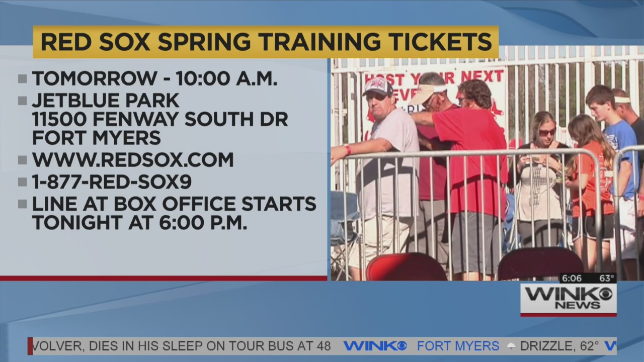 red sox spring training tickets on sale tomorrow. Black Bedroom Furniture Sets. Home Design Ideas