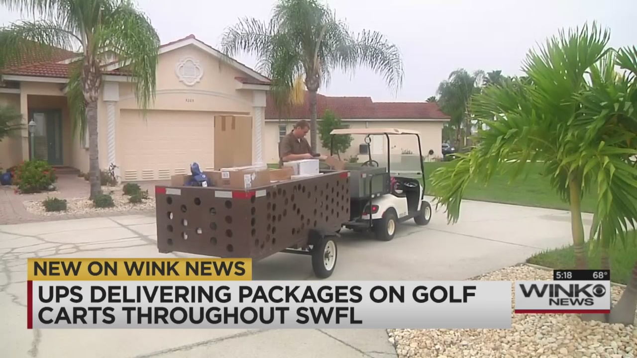 UPS using golf carts to deliver packages this holiday season on monster cart, car cart, ups go cart,
