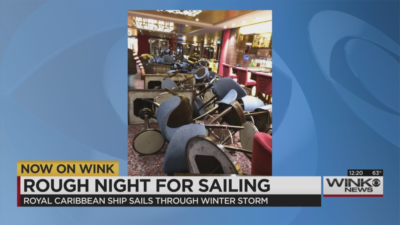 Storm-battered cruise ship returning to homeport