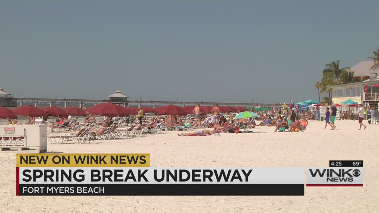 Spring breakers start to arrive on Fort Myers Beach   WINK NEWS