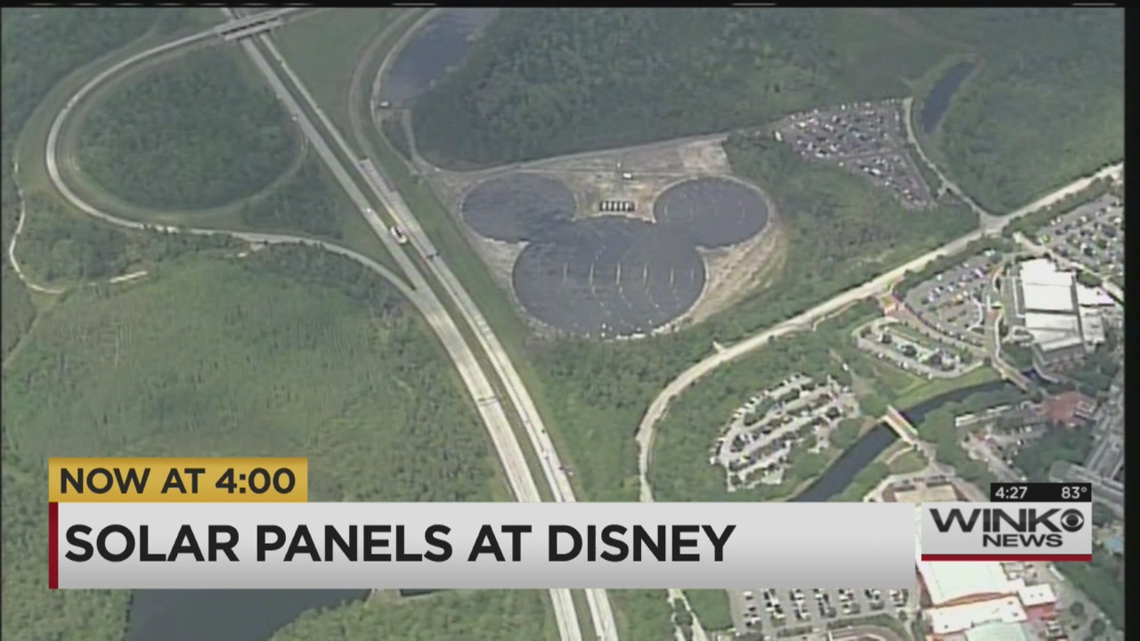 Mickey Mouse Shaped Solar Facility Unveiled At Disney World