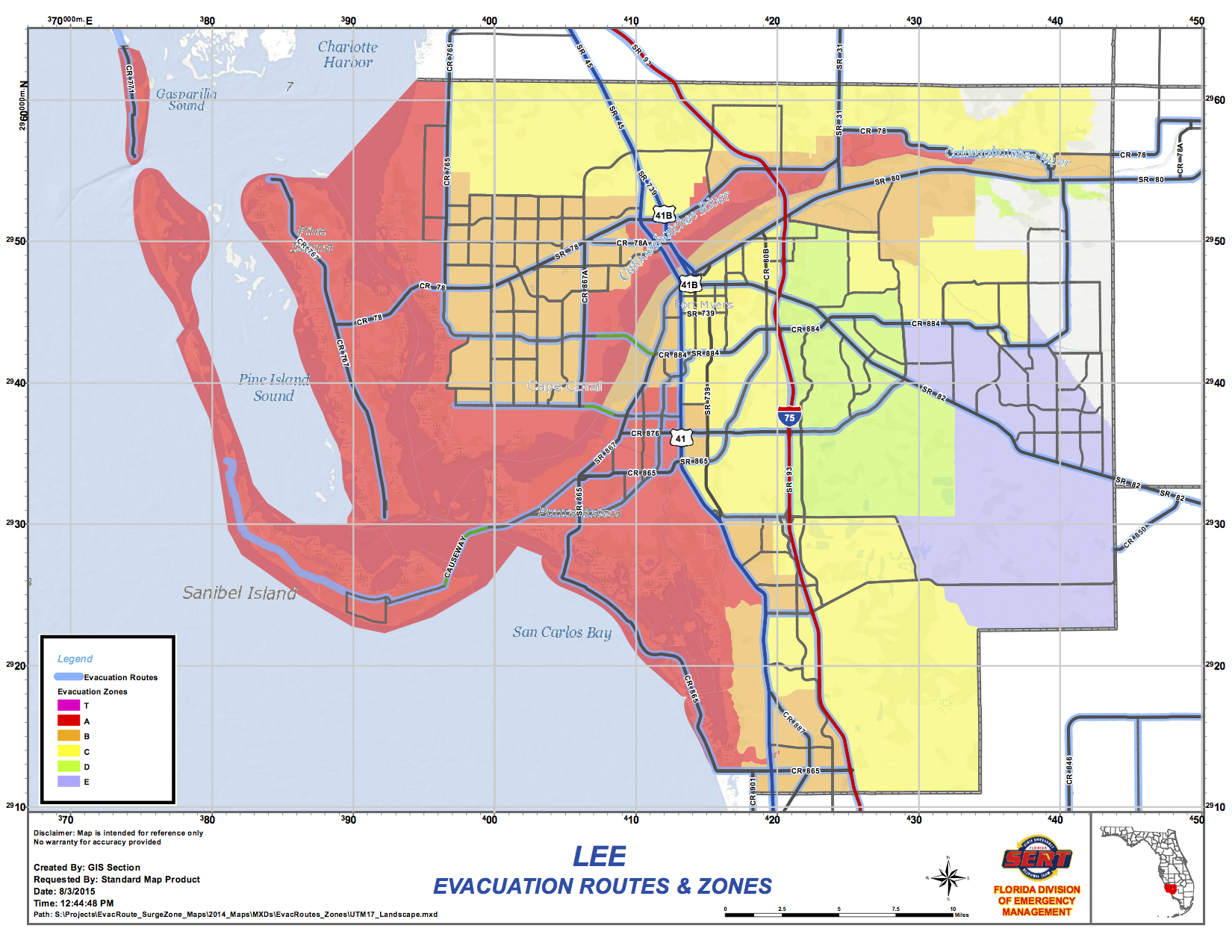 Lee County Map Florida.Hurricane Central Wink News