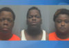 (L to R) Thermal Glover Jr., 20; Le'Nal Shenard Glover, 19; and Ajaria Sharda Simon, 19, were arrested in connection with a Fort Myers bank robbery on Saturday where police said shots were fired. (Photos courtesy of the Lee County Sheriff's Office)