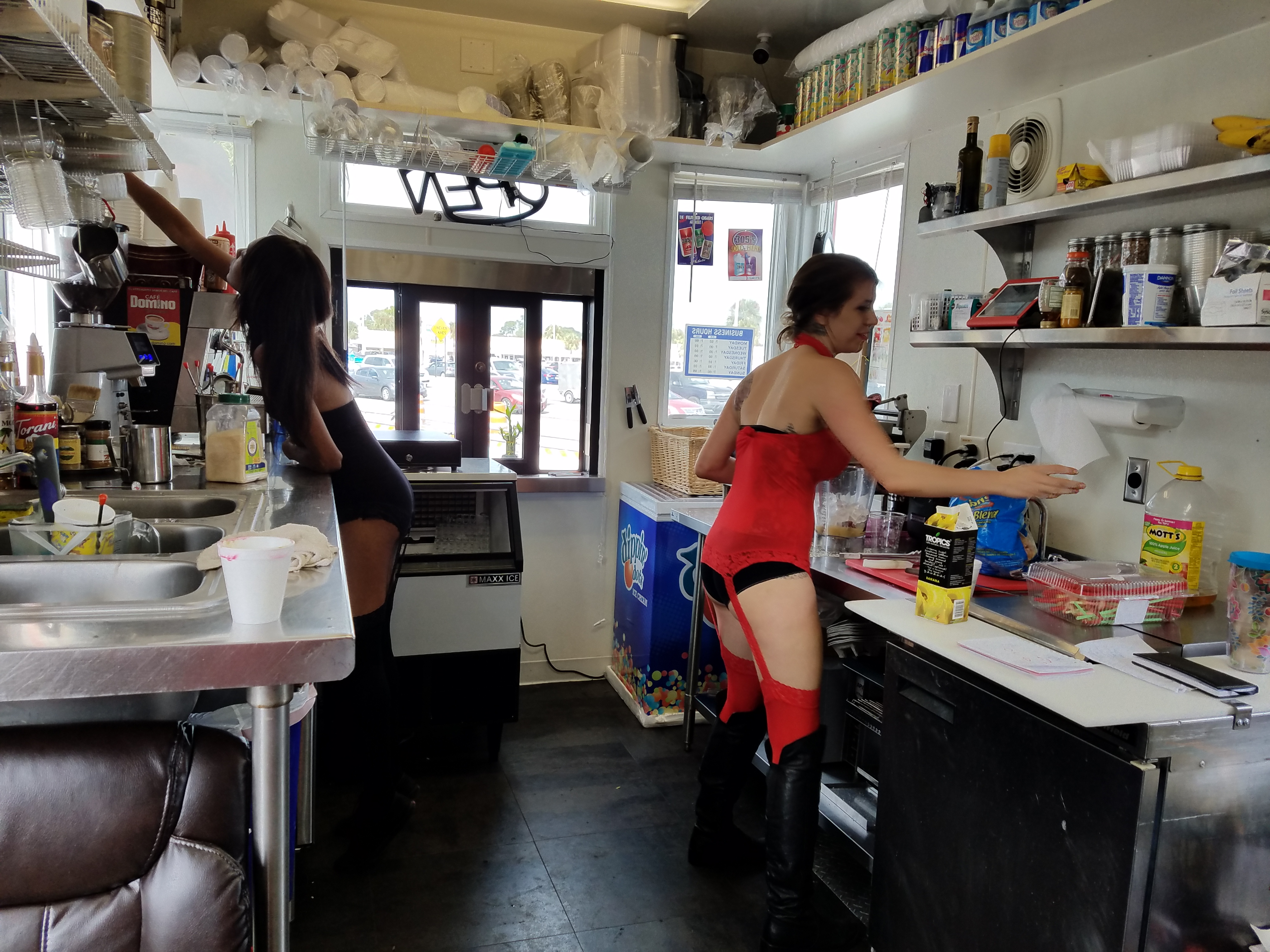 Coffee Hot  Uniforms Racy At Charlotte Harbor Business