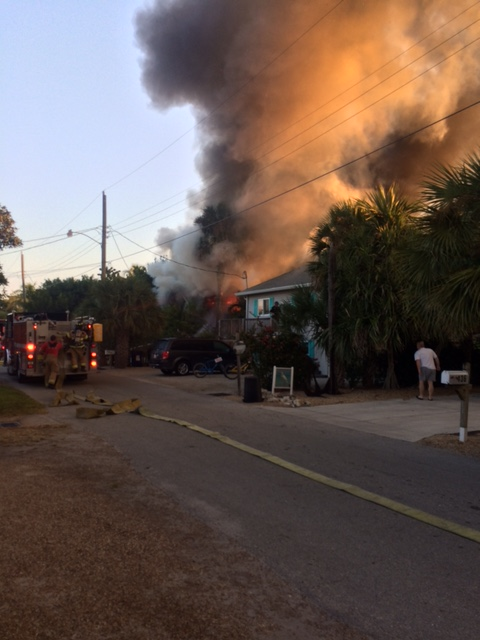 huge house fire extinguished on fort myers beach despite House On Fire House Fire Damage