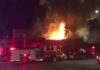 This photo taken from video provided by @Oaklandfirelive shows the scene of a fire in Oakland, early Saturday, Dec. 3, 2016. The blaze began at about 11:30 p.m. on Friday during a party at a warehouse in the San Francisco Bay Area city. Several people were unaccounted for. Oakland Fire Department posted several messages throughout the night on its Twitter social media network account, including the latest one in the morning saying that fire crews would remain on the scene for several more hours to extinguish hot spots(@Oaklandfirelive via AP)