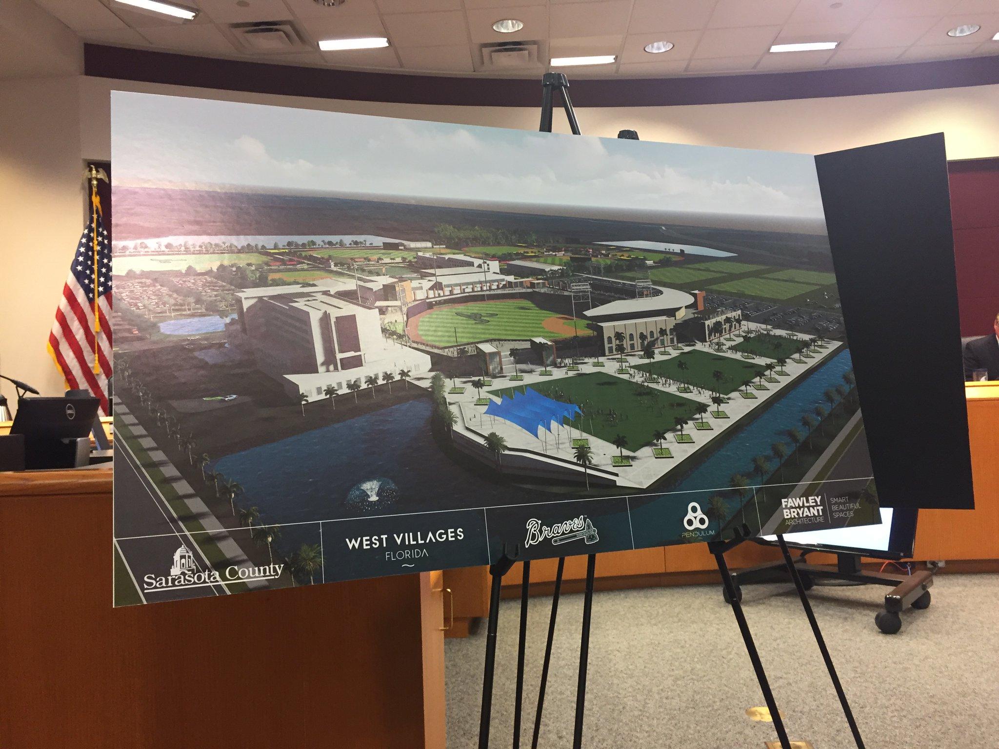 Atlanta Braves Unveil Plans For North Port Training Site