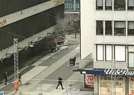 Stockholm truck attack leaves two dead and many injured