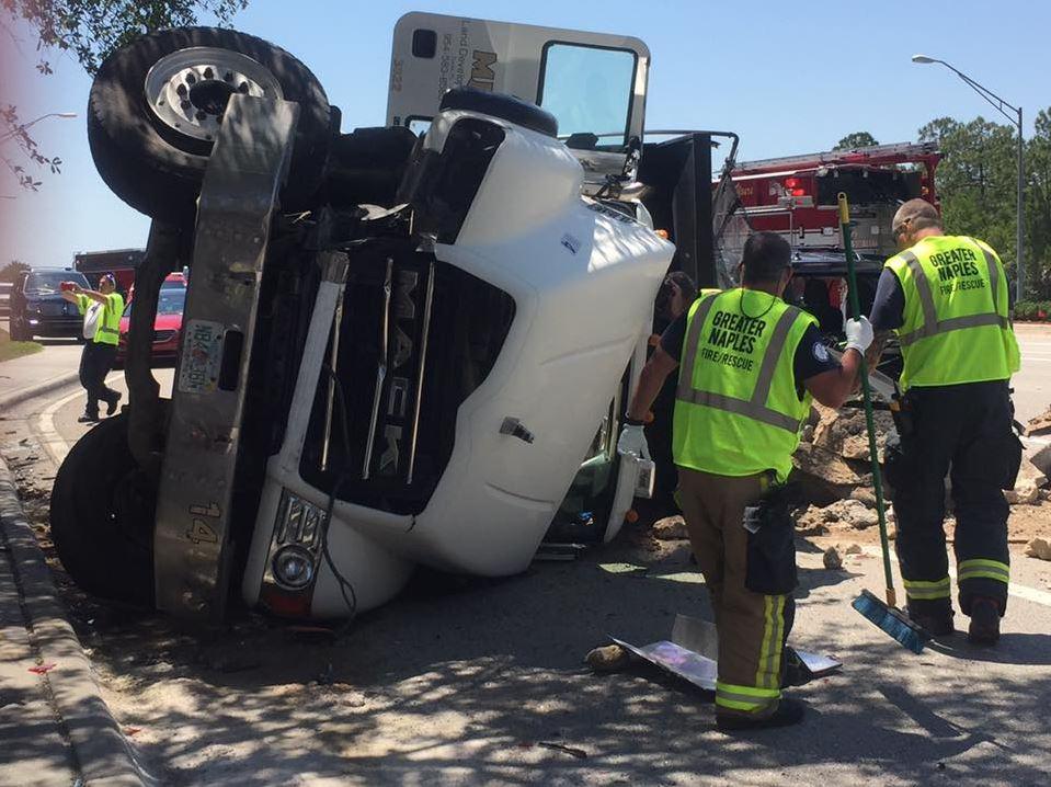 4 Hospitalized In Immokalee Dump Truck Crash