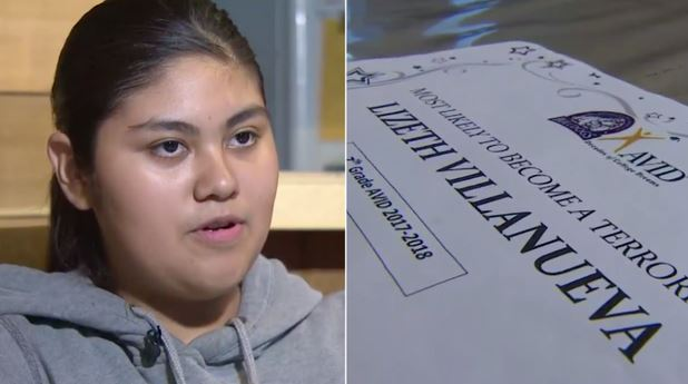 Teacher gives student 'most likely to become a terrorist' award