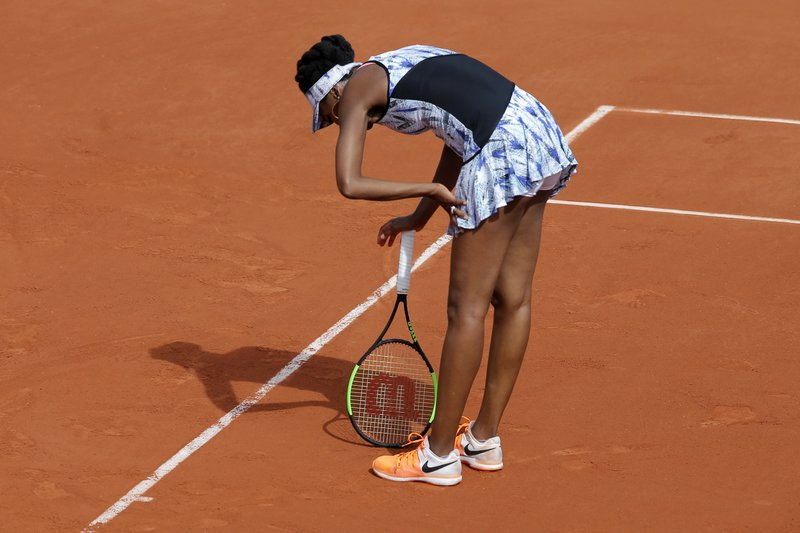 Venus Williams out; French Open to have 1st-time Slam champ