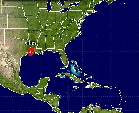 Tropical Storm Comes Ashore in Southwest Louisiana