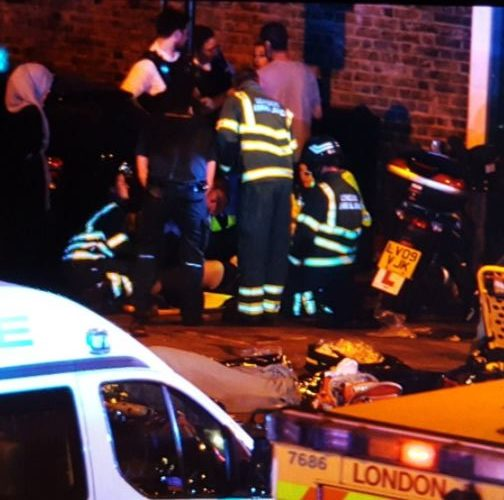 Vehicle strikes several pedestrians in London