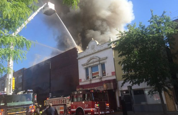 Huge 3-Alarm Fire Tears Through Logan Square Furniture Store