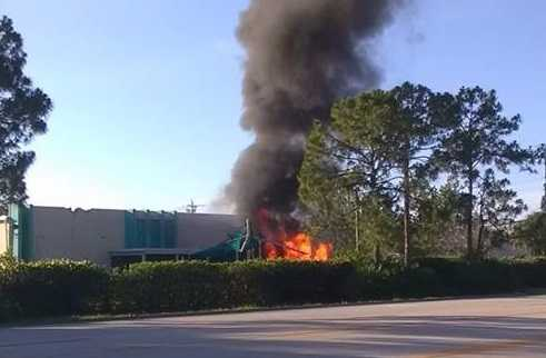 Plane crashes into empty Florida daycare building; 1 killed