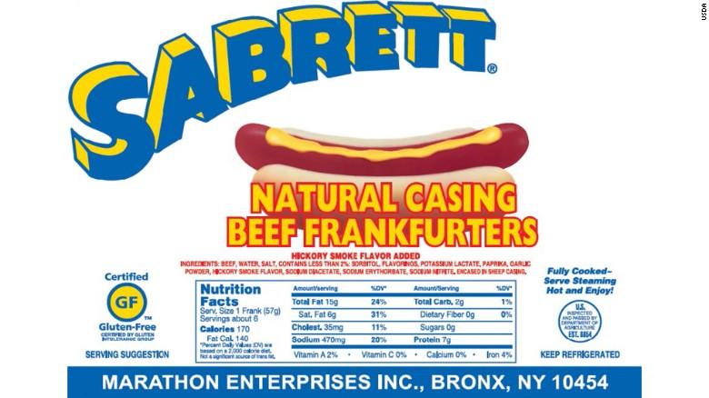 Sabrett Hot Dog Image