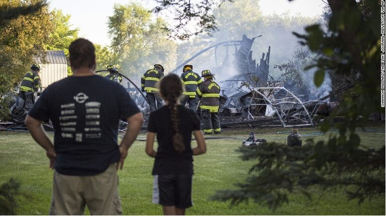 Man tries to remove bees with fireworks, burns down garage