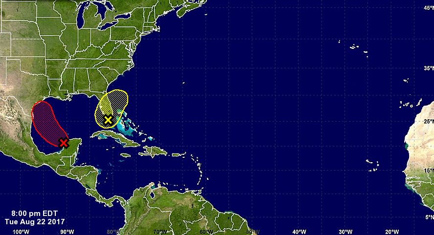 Former tropical storm moves into Gulf on path toward Texas