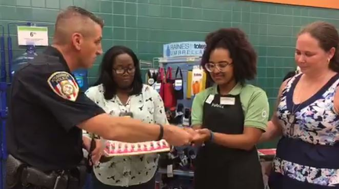 Police surprise daughter of fallen Florida officer on her birthday