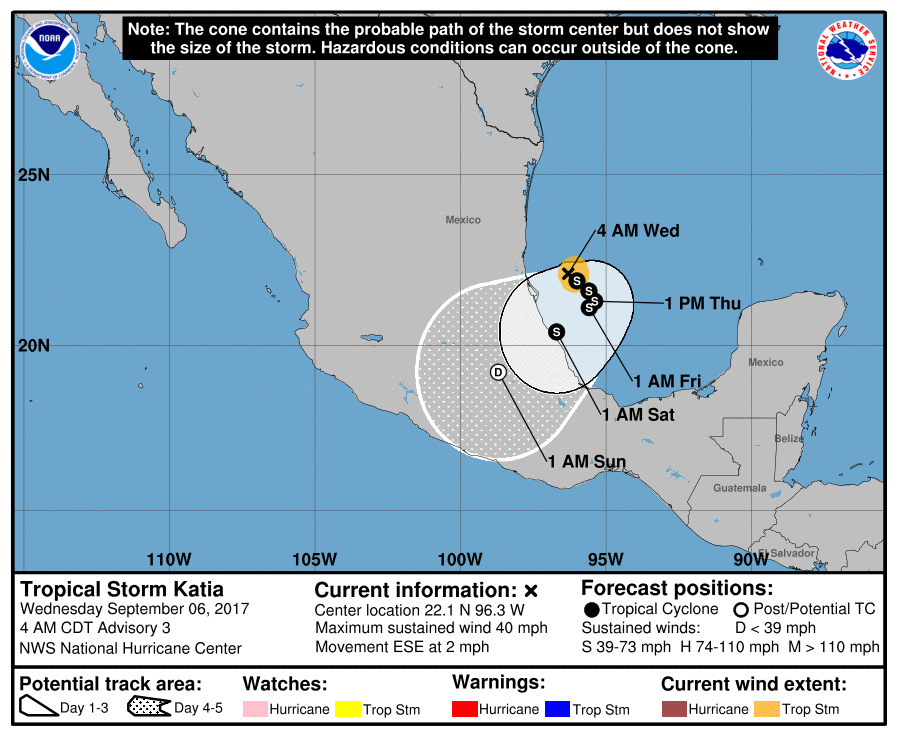 Hurricane Katia Brings Heavy Rain to Mexico a Day After Quake