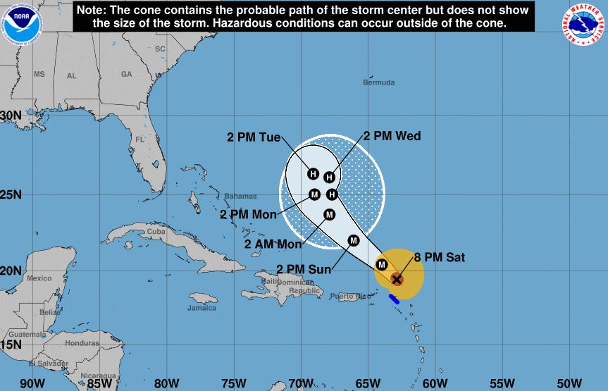 National Hurricane Center: Irma weakens to a Category 1 storm -- 3AM