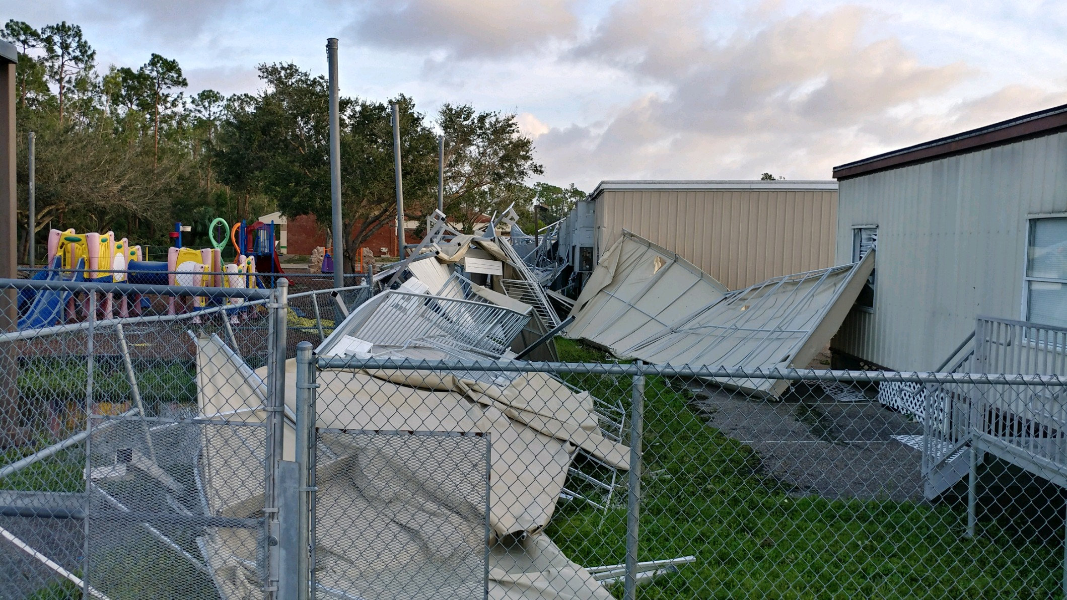 Irma Damages Lehigh Senior High School Affects Other Lee