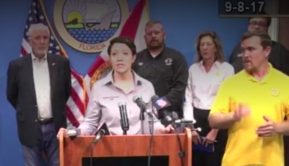 Deaf community outraged after interpreter signs gibberish during Irma press conference