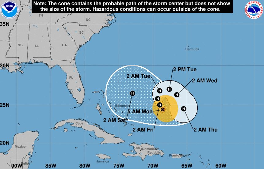 Hurricane Jose weakens into Category 1 storm
