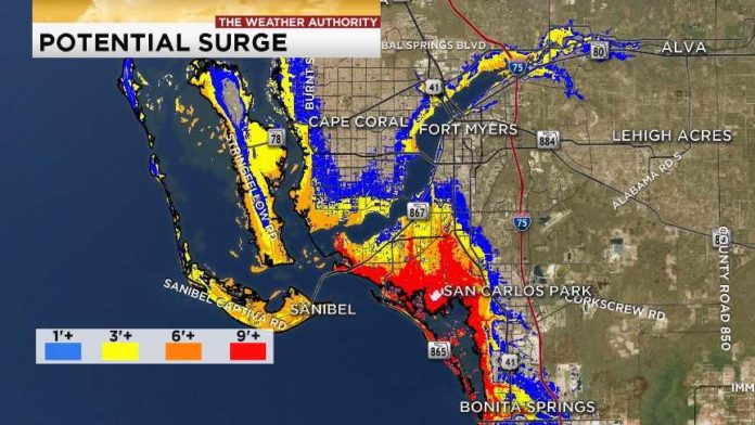 Storm surge potential down dramatically in revised maps ...