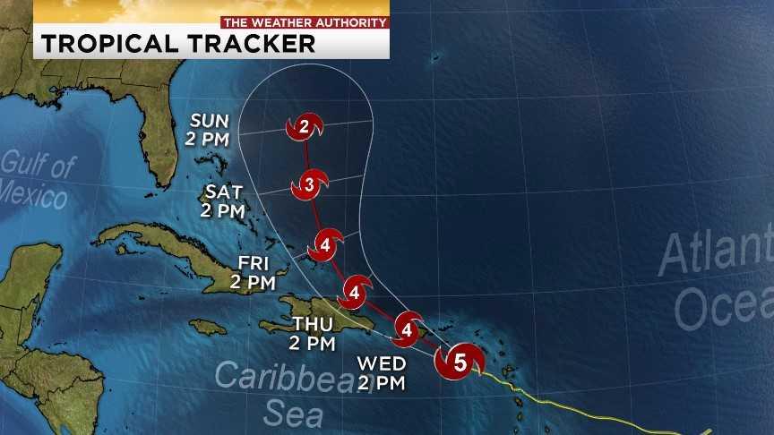 Category 5 Hurricane Maria eyes Caribbean not Florida