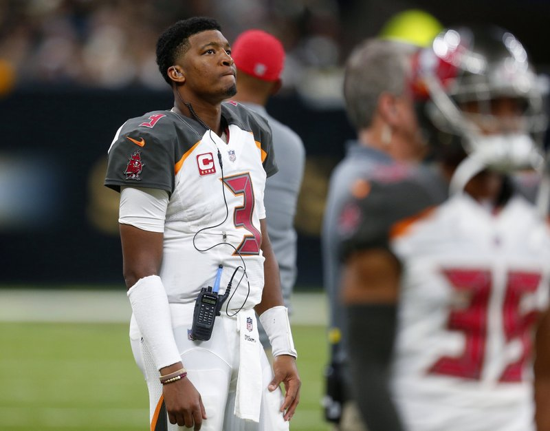 Jameis Winston ruled out vs. Falcons after doctors examine QB's shoulder