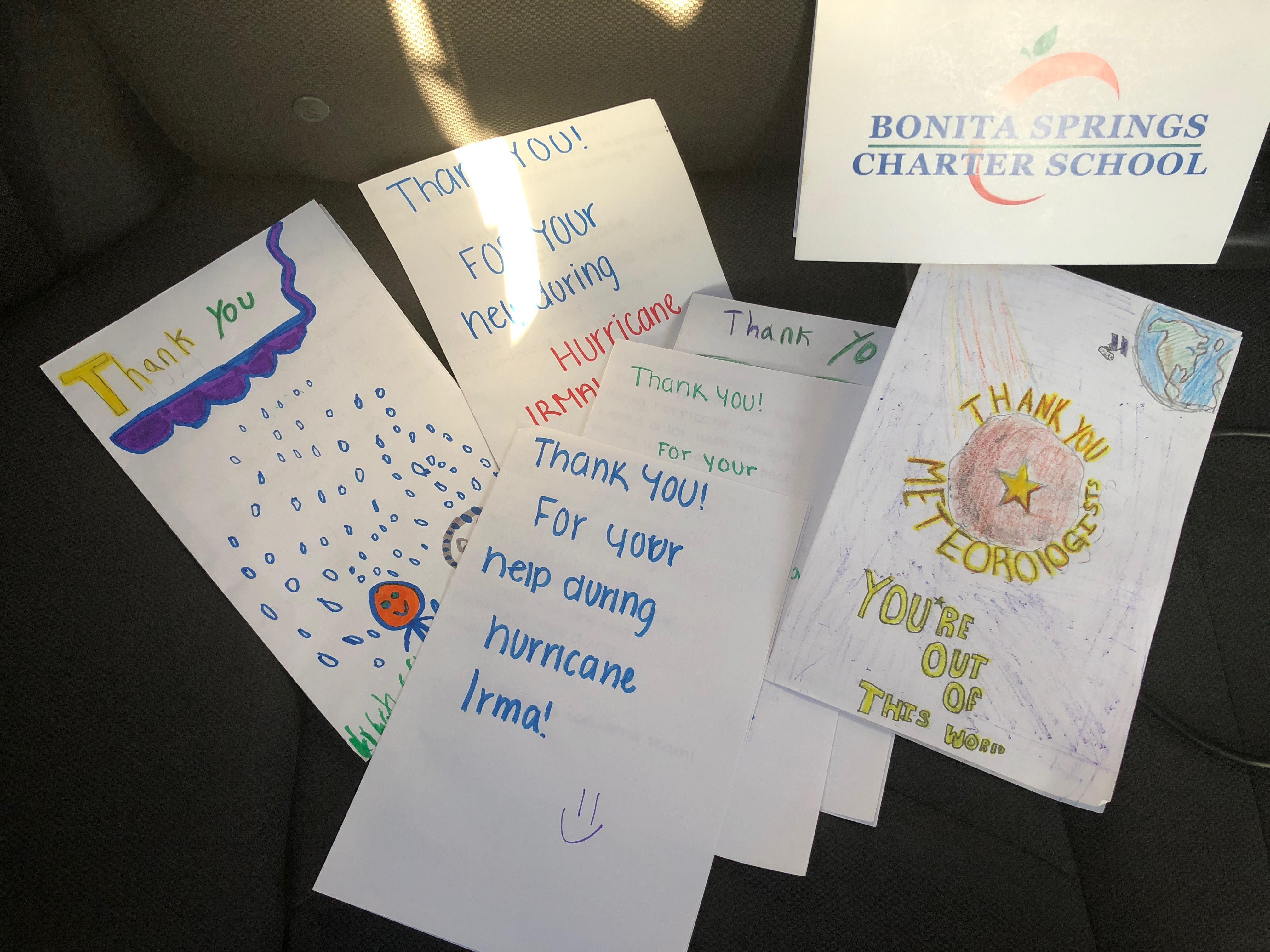 Bonita Springs Charter School Students Thank First Responders