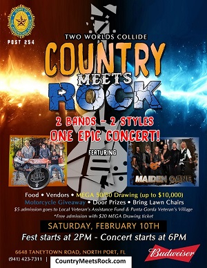 Country Meets Rock to benefit veterans