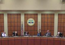 School District of Lee County board members in early 2018. Photo via WINK News.