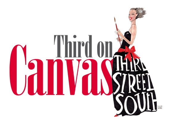 """Third Street South hosts """"Third on Canvas"""" to benefit Two local charities – Friends of Foster Children Forever and PAWS Assistance Dogs"""