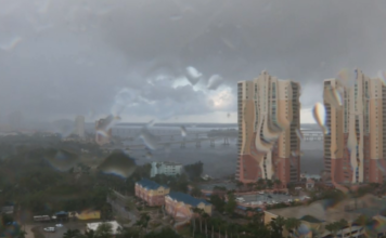 Heavy rain in Southwest Florida. WINK News photo.