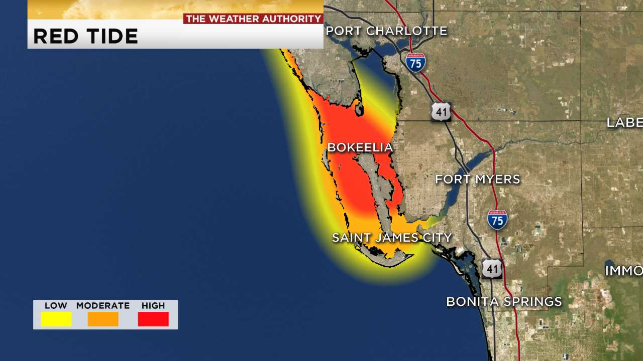 Ft Myers Florida Map.You Can Smell It In The Air Red Tide Algae Spread Through Swfl
