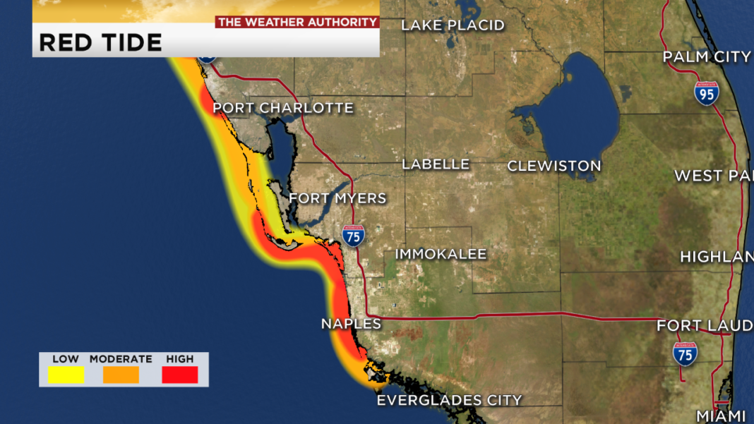 Southwest Florida Red Tide Map For Aug. 31