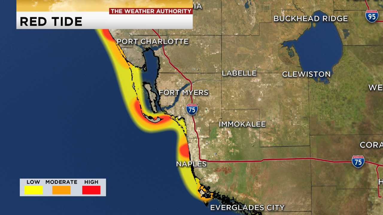 Southwest Florida Red Tide Map For Aug 29