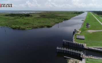 Aerial footage of Lake Okeechobee on Aug. 13, 2018