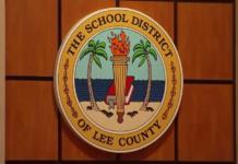 School District of Lee County seal. Photo via WINK News.