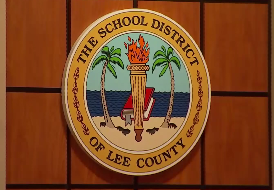 School District of Lee County seal. Photo via WINK News.