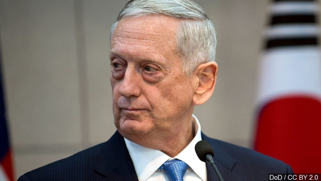 Mattis approving troops to the border. Photo via MGN