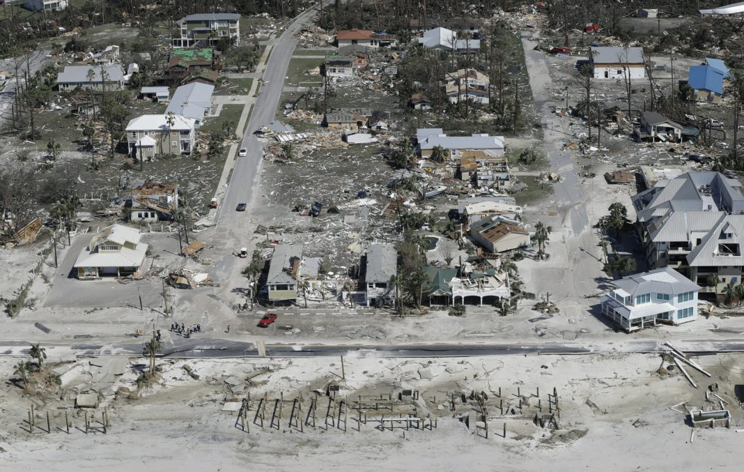 Mexico Beach, Florida after Hurricane Michael. Credit: Chris O'Mera AP